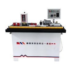 Straight Line Or Curve Manual Edge Banding Machine For Solid Wood Panels